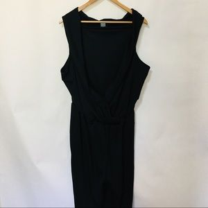 Kate & Mallory black plunging jumpsuit